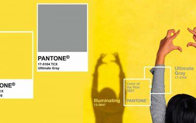 Vi presentiamo ILLUMINATING E ULTIMATE GRAY, i colori Pantone 2021