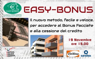Al FEL virtual il webinar: EasyBonus, nuovo metodo per accedere a Bonus Facciate e Cessione del Credito