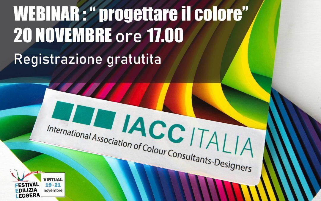 20 novembre ore 17.00 webinar: il colore tra indagine e applicazione